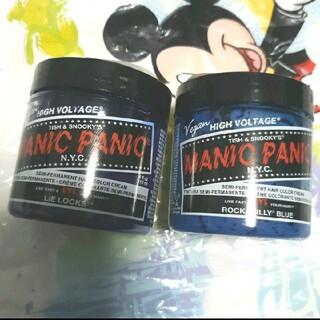 マニックパニック ヘアカラークリーム ライラック ロカビリーブルー(カラーリング剤)