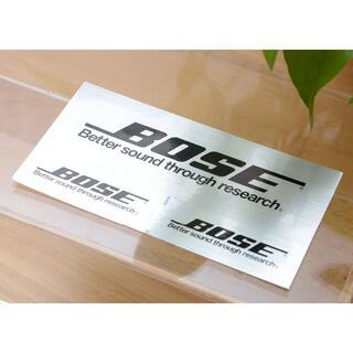 ボーズ(BOSE)の高品質 ポーズBOSEメタルステッカー 大1枚小2枚の1シート スピーカーに(スピーカー)