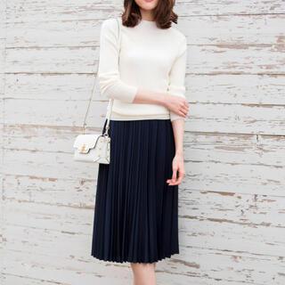 アナイ(ANAYI)の極美品 アナイ ANAYI 20ss バックサテンアムンゼンプリーツスカート(ひざ丈スカート)