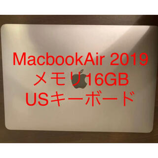 Apple - MacbookAir 2019 13inch メモリ16GB US配列
