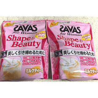 ザバス(SAVAS)の【choa様専用】シェイプ&ビューティー ミルクティー風味 945g 2袋セット(プロテイン)