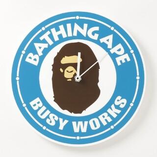 アベイシングエイプ(A BATHING APE)のA BATHING APE BUSY WORKS WALL CLOCK 青(掛時計/柱時計)