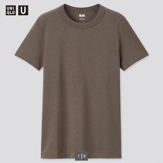 UNIQLO - ユニクロUクルーネックTダークブラウンXL完売商品