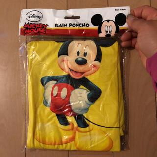 ディズニー(Disney)のミッキーレインコート大人用(レインコート)
