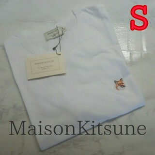 MAISON KITSUNE' - メゾンキツネフォックスヘッドパッチTシャツSホワイト