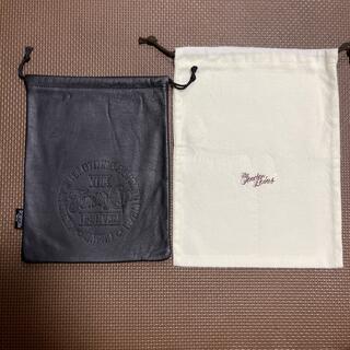 TENDERLOIN - 【新品 未使用】テンダーロイン  レザーポーチ 黒 巾着袋付き