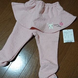 coeur a coeur - クーラクール  リボン地柄 スカッツ ピンク 80 スカートつき ズボン