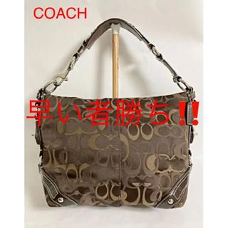 コーチ(COACH)の【高級】COACH カーリーオプティックシグネチャーショルダーバッグ 13980(ショルダーバッグ)