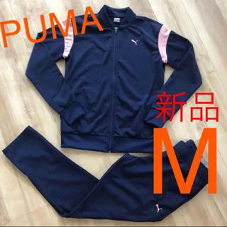 プーマ(PUMA)の☆新品☆PUMA プーマ レディースジャージ上下 ネイビーピンク Mサイズ(セット/コーデ)