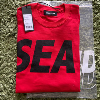 SEA - WINDANDSEA  L/S T-SHIRT Red-Black 新品未使用