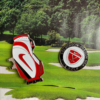 NIKE - Nike (ナイキ) バッグ型のクリップ付きゴルフボールマーカー 赤色