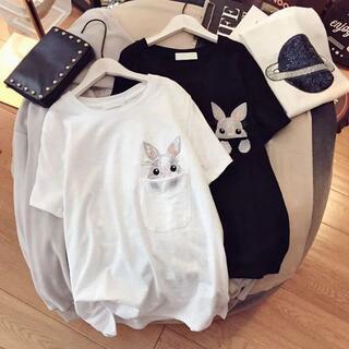 ディーホリック(dholic)のラビットTシャツ(Tシャツ(半袖/袖なし))