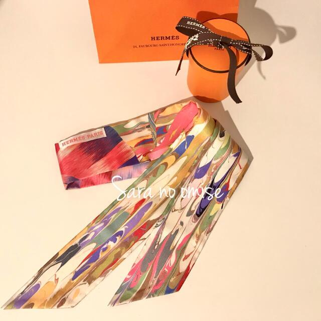 Hermes(エルメス)のHermes マーブル シルク ツイリー  レディースのファッション小物(バンダナ/スカーフ)の商品写真