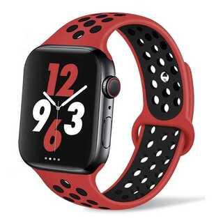 【B2E】Apple Watch スポーツバンド42mm/44mm(赤)