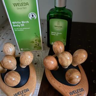 ヴェレダ(WELEDA)のヴェレダ ホワイトバーチ2個  マッサージブラシ2個(ボディオイル)