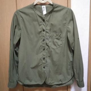 MARGARET HOWELL - MHL.  バンドカラーシャツ カーキ