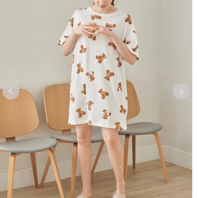 gelato pique(ジェラートピケ)のジェラートピケ ベア モチーフ抗菌防臭ドレス  ピンク レディースのルームウェア/パジャマ(ルームウェア)の商品写真
