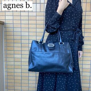 agnes b. - ☆agnès b. ハンドバッグ レディース ビジネス 通勤 通学 ビッグロゴ