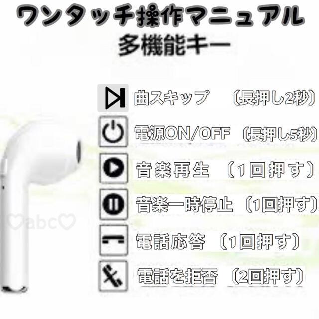 i7s tws ワイヤレスイヤホン 人気No.1 最新型2020年版 スマホ/家電/カメラのオーディオ機器(ヘッドフォン/イヤフォン)の商品写真