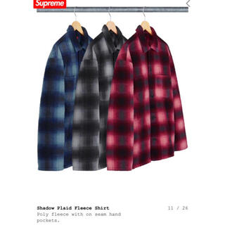 Supreme - Supreme Shadow Plaid Fleece Shirt