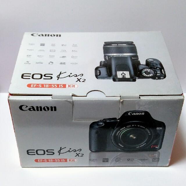 Canon(キヤノン)の美品 CANON EOS KISS X2 デジタル一眼レフカメラ + 標準レンズ スマホ/家電/カメラのカメラ(デジタル一眼)の商品写真