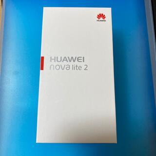 HUAWEI - HUAWEI nova lite2 sim フリー 【未開封 新品未使用】