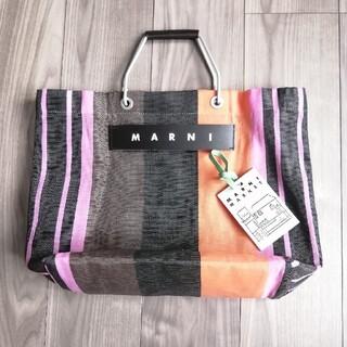 Marni - MARNI マルニ フラワーカフェ ストライプバッグ 中板付