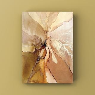 アルコールインクアート インテリアアート アートポスター《brown》(アート/写真)