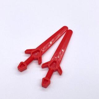 レゴ(Lego)の【新品】LEGO 赤 グレートソード アングラー 剣 2本(知育玩具)
