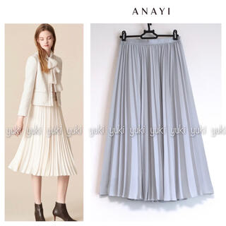 ANAYI - ANAYI バックサテン アムンゼンプリーツスカート