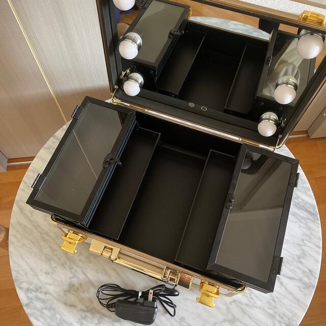 Francfranc(フランフラン)のフランフラン ハリウッドボックス Sサイズ ホワイト コスメ/美容のメイク道具/ケアグッズ(メイクボックス)の商品写真