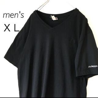 カッパ(Kappa)のKappa カッパ 刺繍ロゴ Vネック 半袖 Tシャツビッグシルエット 古着(Tシャツ/カットソー(半袖/袖なし))