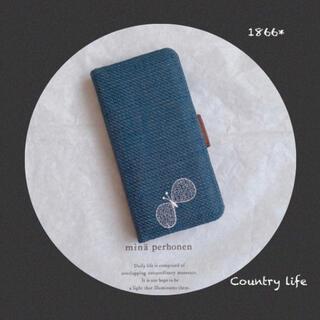 ミナペルホネン(mina perhonen)の1866*現品  iPhone8.7.SE2 ミナペルホネン 手帳 スマホケース(iPhoneケース)