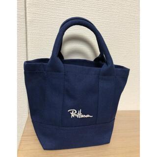新品未使用品ロンハーマン ミニトートバッグ手提げ キャンパス ネイビー ブルー
