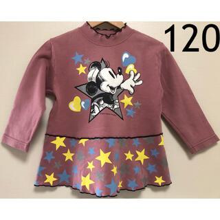 ディズニー(Disney)のDIA CLUB ディズニー ミニー ハイネック 長袖 トレーナー 120(Tシャツ/カットソー)