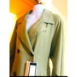 コウベレタス(神戸レタス)の新品タグ付き 神戸レタス オリーブ色のコート(トレンチコート)