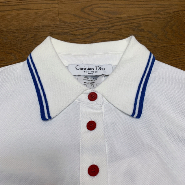 Dior(ディオール)の【新品・未使用・タグ付き】ディオール Dior ノースリーブ ポロシャツ L レディースのトップス(Tシャツ(半袖/袖なし))の商品写真