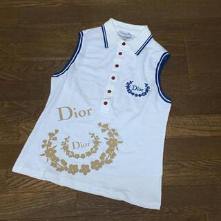 Dior - 【新品・未使用・タグ付き】ディオール Dior ノースリーブ ポロシャツ L