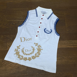 ディオール(Dior)のディオール Dior ノースリーブ ポロシャツ L(Tシャツ(半袖/袖なし))
