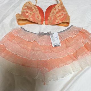 アンフィ(AMPHI)のブラ オレンジ(ブラ&ショーツセット)