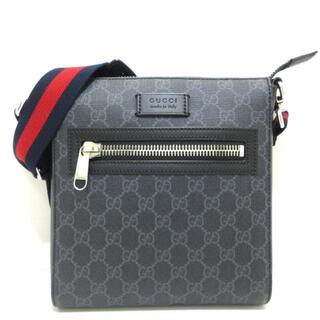 グッチ(Gucci)のグッチ メンズ美品  523599 ダークグレー (ショルダーバッグ)