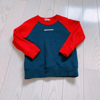 mikihouse - 【色あせあり】MIKIHOUSE ロゴトレーナー ロゴシリーズ 90サイズ