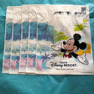 ディズニー(Disney)の【ディズニーリゾート】お土産袋5枚セット(未使用)値下げ交渉に対応致します(ショップ袋)