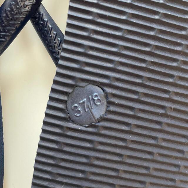 havaianas(ハワイアナス)のハワイアナス ビーチサンダル ネイビー 37/8 レディースの靴/シューズ(ビーチサンダル)の商品写真