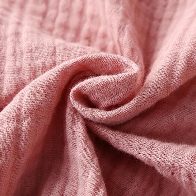 レディースダブルガーゼパジャマセットかわいい無地柄 レディースのルームウェア/パジャマ(ルームウェア)の商品写真