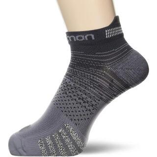 サロモン(SALOMON)の①Salomonサロモン ランニングソックス靴下 プレディクトロウ灰 男女兼用S(ウェア)