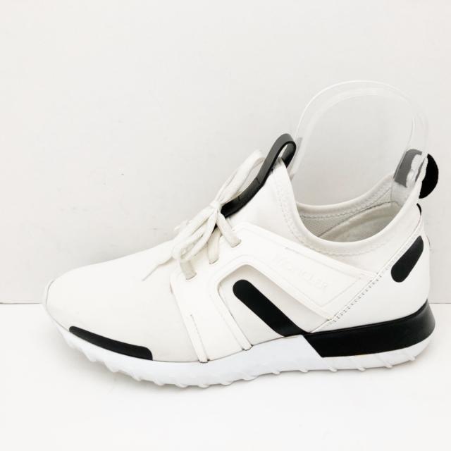 MONCLER(モンクレール)のMONCLER(モンクレール) メンズ 白×黒 メンズの靴/シューズ(スニーカー)の商品写真