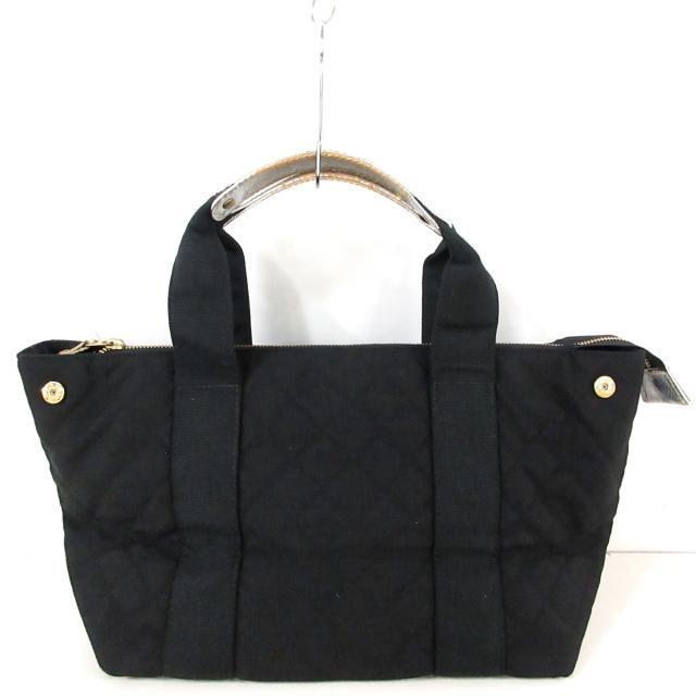 MZ WALLACE(エムジーウォレス)のウォレス - 黒×シルバー キルティング レディースのバッグ(ハンドバッグ)の商品写真