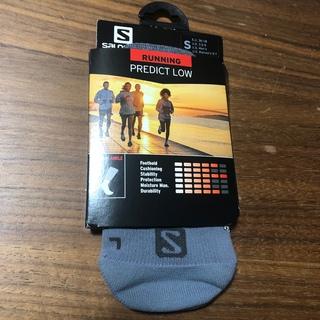サロモン(SALOMON)の②サロモンSalomon ランニングソックス靴下 プレディクトロウ灰 男女兼用S(ウェア)