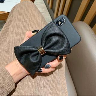 【ブラック】ビッグ リボン iPhoneケース(iPhoneケース)
